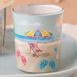 Beach themed votive from fashioncraft