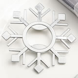 Snowflake design silver metal bottle opener