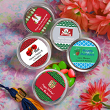 <em>Design Your Own Collection</em> Silver Mint Tin Holiday Favors