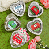 <em>Design Your Own Collection</em> Silver Heart Shaped Holiday Mint Tins
