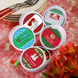 <em>Design Your Own Collection</em> White Mint Tin Favors - Holiday Themed