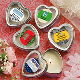 <em>Design Your Own Collection</em> Scented Heart Shaped Travel Candles - Holiday Themed