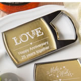 Personalized metallics collection bottle opener from fashioncraft