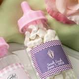 Personalized expressions Clear baby bottle with pink screw on top