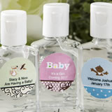 Baby Shower Personalized expressions hand sanitizer favors