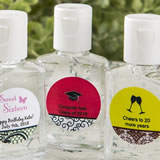 Anniversary, Sweet 16 Personalized expressions hand sanitizer favors
