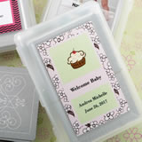 Personalized  Baby Shower expressions collection playing cards with a designer top