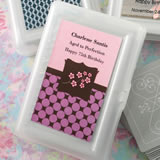 Personalized  Anniversary, Birthday Expressions collection playing cards with a designer top