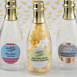 Baby Shower Design your own collection personalized acrylic champagne bottle with gold foil top