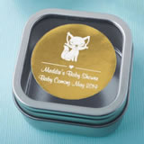 Baby Shower Personalized Metallic Collection Clear Top Mint Tin Favors
