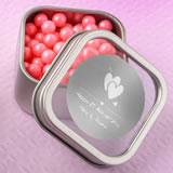 Anniversary, Birthday, Graduation Personalized Metallic Collection Clear Top Mint Tin Favors