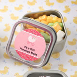 Baby Shower Personalized Expressions Collection Clear Top Mint Tin Favors