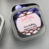 Anniversary, Birthday, Sweet 16 Personalized Expressions Collection Clear Top Mint Tin Favors