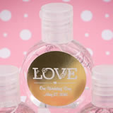 Personalized metallics hand sanitizer favor