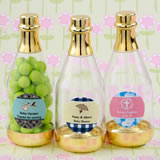 Baby Shower Personalized expressions gold accented clear champagne bottle container
