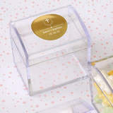 Baby Shower Personalized metallic collection Acrylic chest