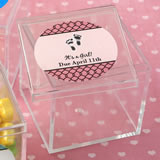 Baby Shower Personalized expressions Square Acrylic Box
