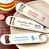 Design your own collection 7 inch  screen printed stainless steel bartenders bottle opener