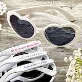 Personalized Expressions Heart Shaped white Sunglasses