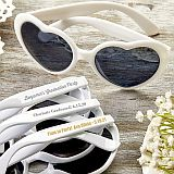 Personalized Metallic Heart Shaped white Sunglasses