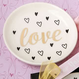 Love white ceramic jewelry / change dish