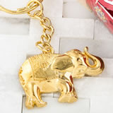 Gold metal Good luck elephant key chain