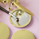 <em>Perfectly Plain Collection</em> Gold  Compact Mirror
