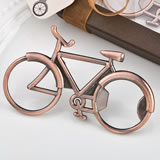 Vintage Bicycle design antique copper color metal bottle opener