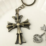Flared Cross design key chain from fashioncraft