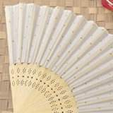 Personalized Metallics Collection Gold dot silk folding fan favor