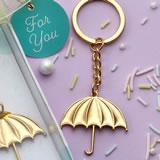 Gold umbrella key chain