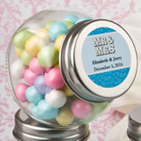 Personalized candy glass jar - marquee design