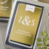 Personalized Metallics Collection playing card favors