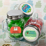 <em>Design Your Own Collection</em> Glass Mason Jars - Holiday Themed