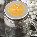 Monogram  Collection mason glass jar