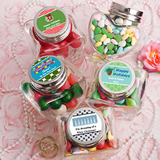 <em>Design Your Own Collection</em> Heart Shaped Glass Jars - Holiday Themed