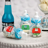 <em>Design Your Own Collection</em> Blue Baby Bottle Favors - Holiday Themed