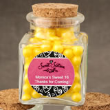 Anniversary, Birthday, Seet 16 Personalized Expressions Collection square clear glass treat jar