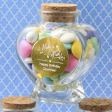 All Events Personalized Metallics Collection heart shaped glass jars