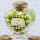 Birthday Personalized Expressions Collection heart shaped glass jars