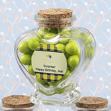 All Events Personalized Expressions Collection heart shaped glass jars