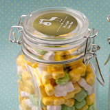Baby Shower Personalized Metallics Collection large glass apothecary jar with hinged top