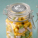 Anniversary, Birthday Personalized Metallics Collection large glass apothecary jar with hinged top
