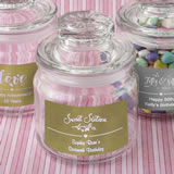 Anniversary, Birthday, Sweet 16 Personalized Metallics collection glass jar with sealed cover