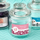 Baby Shower Personalized Expressions collection glass jar with sealed cover