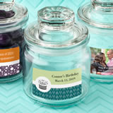 Anniversary, Birthday, Graduation Personalized Expressions collection glass jar with sealed cover