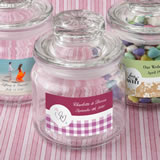 Personalized Expressions collection glass jar with sealed cover