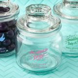 Baby Shower Screen Printed glass jar with sealed cover