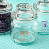 Anniversary, graduation, Sweet 16 Screen Printed glass jar with sealed cover