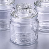 Perfectly Plain collection glass jar with sealed cover